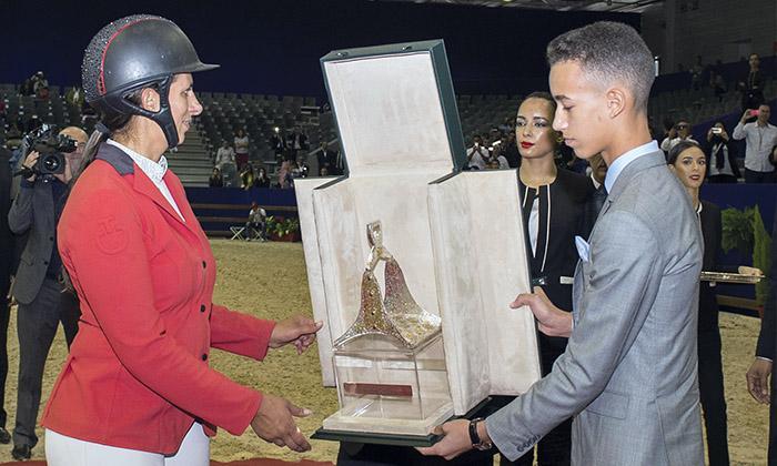8e Morocco Royal Tour: Virginie Thonon devant Pius Schwizer